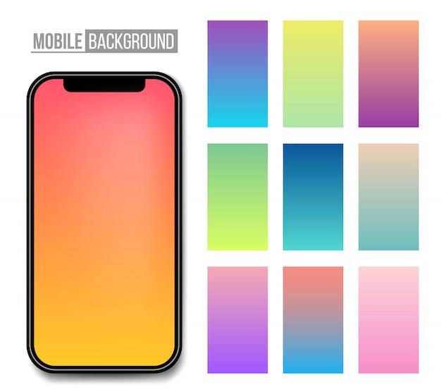 Mobile app soft color background.