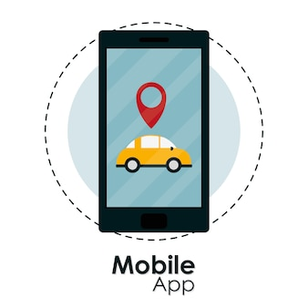 Mobile app taxi service from smartphone
