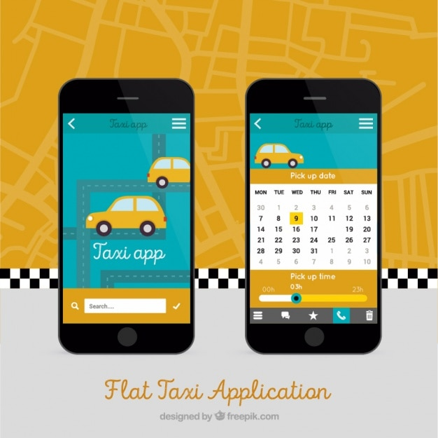 Mobile app for taxis