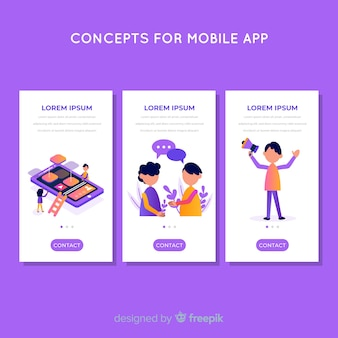Mobile app template