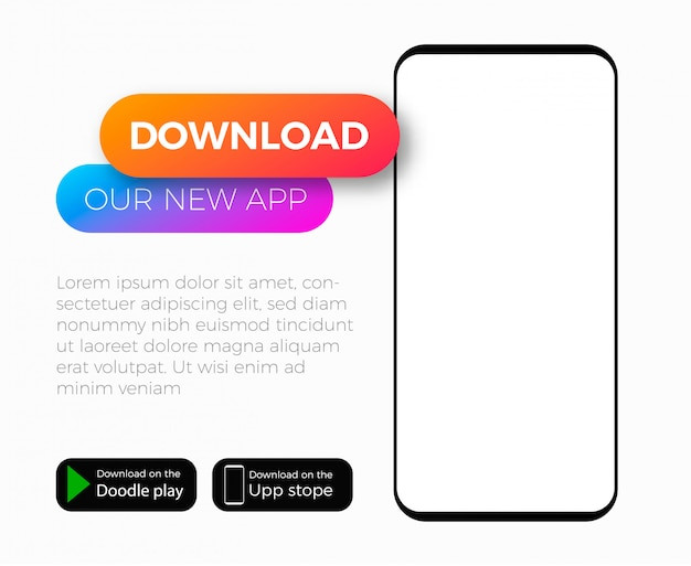 Mobile application add template