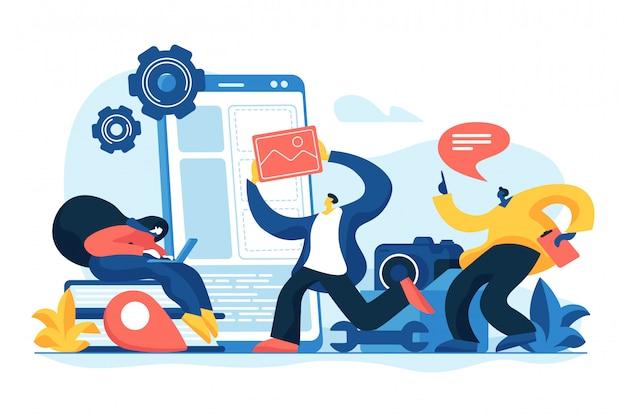 モバイルアプリケーション開発の概念。