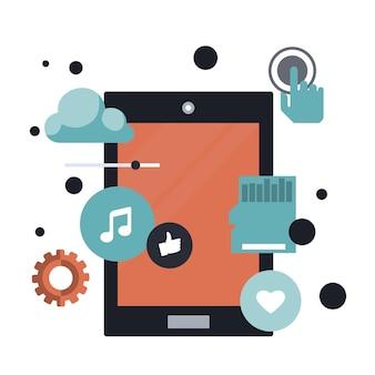 Mobile application an development concept