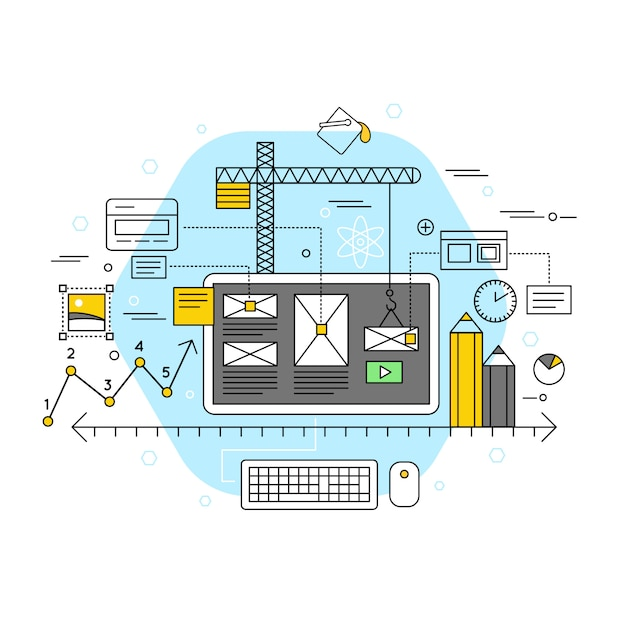 Mobile application flat concept