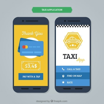 Mobile application template for taxis