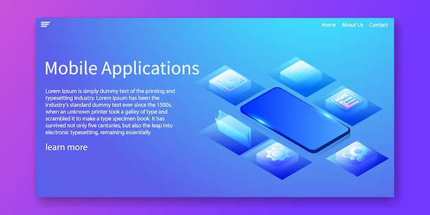 Mobile applications banner