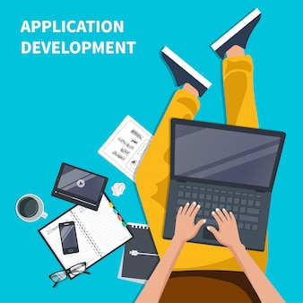 Mobile applications and development concept