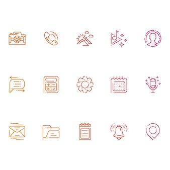 모바일 앱-현대 아이콘