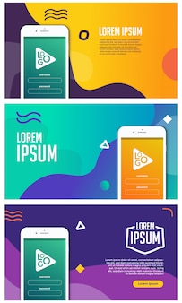Mobile apps promotion banner vector