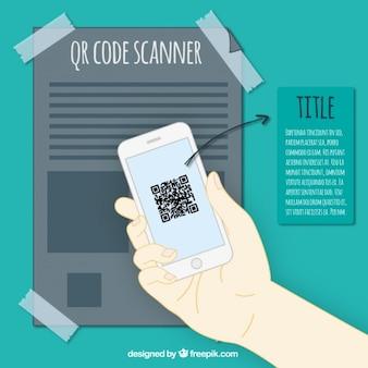Qrコードでモバイル背景