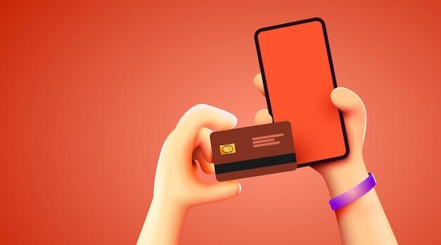 전자 지갑 무선을 통해 신용 카드로 스마트폰 결제로 모바일 뱅킹 앱 및 전자 결제...