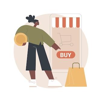 Иллюстрация мобильной торговой площадки
