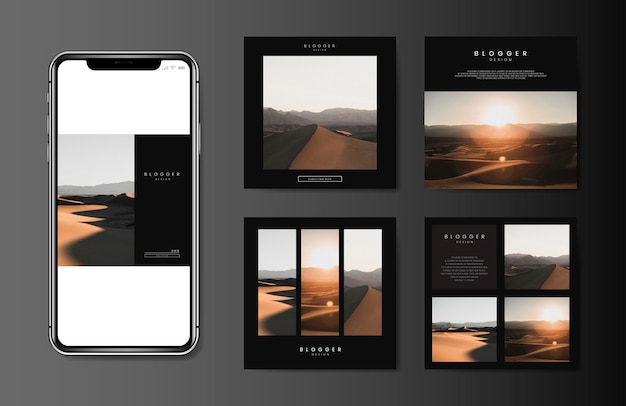 Mobile blog template