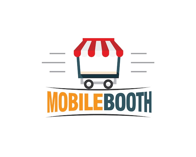 Mobile booth logo
