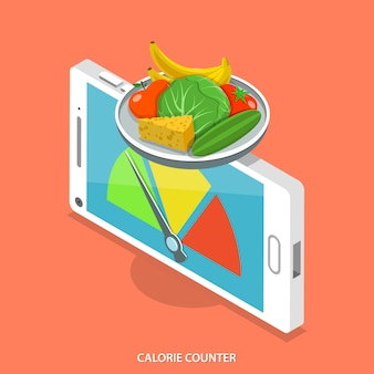 Mobile calorie counter.