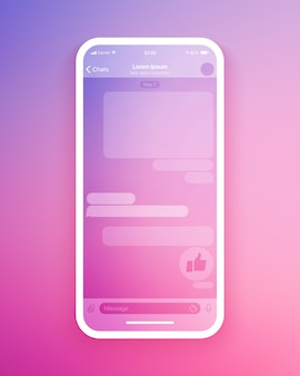 Mobile chat app ui   template