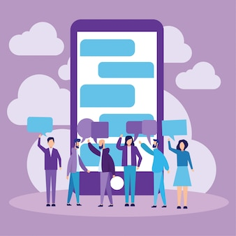 Mobile chat messenger concept