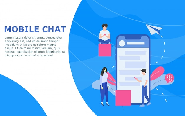 Mobile chat template