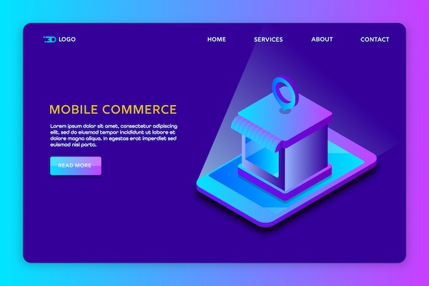 Mobile commerce website template