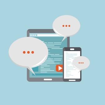 Concetto di comunicazione mobile