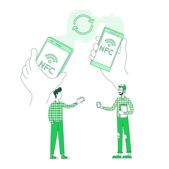 모바일 컨텐츠, 데이터 교환