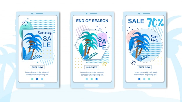 Mobile covers set advertising grand summer sales.