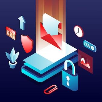 Иллюстрация безопасности мобильных данных