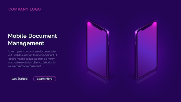 Mobile document manager business concept