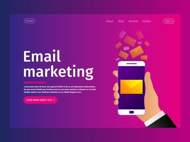 Концепция уведомлений по мобильной электронной почте.