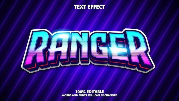 Mobile esport editable text effect