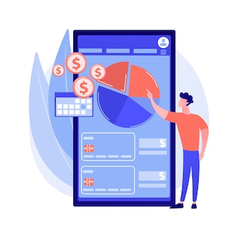 モバイル経費管理の抽象的な概念