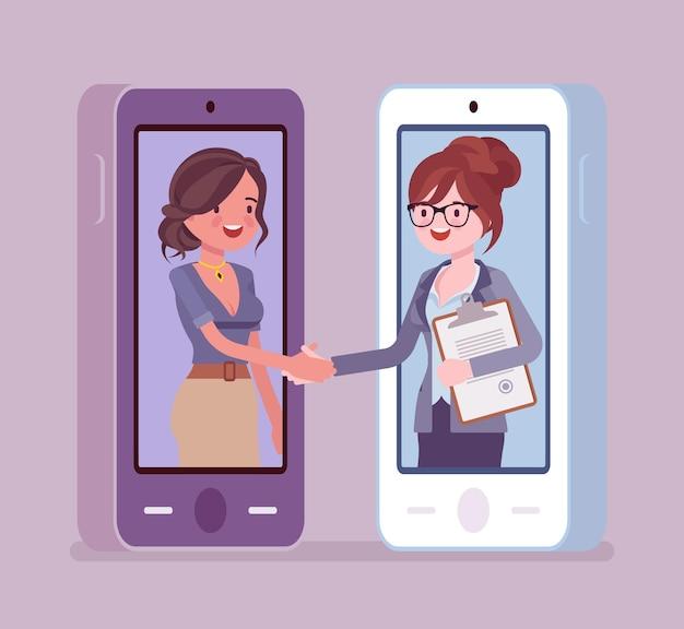 モバイル女性契約、商業ビジネス契約