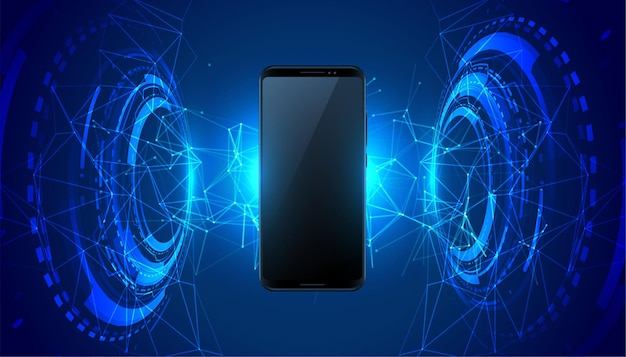 Mobile futuristic technology concept background