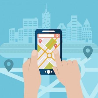 Мобильные gps дизайн фона