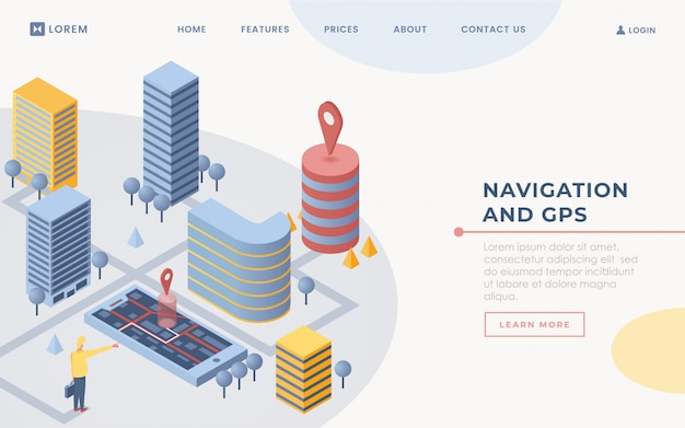 Mobile gps software landing page