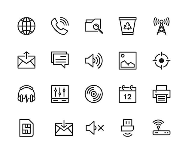 Mobile icon set.