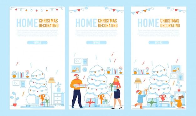 Mobile landing page set for holidays preparation