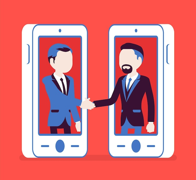 Mobile male deal, commercial business agreement