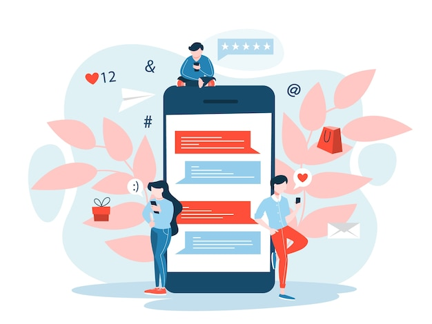 Концепция мобильного маркетинга. идея цифровой коммуникации