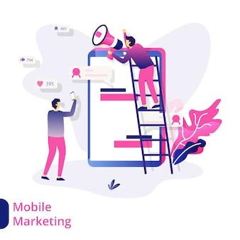 Иллюстрация мобильного маркетинга