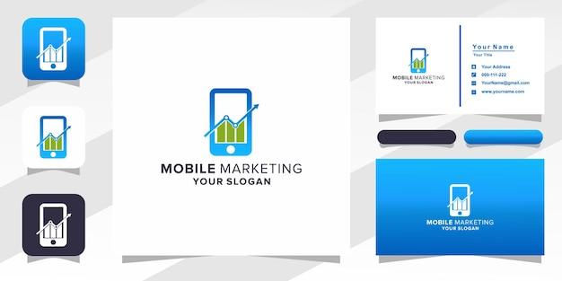 Mobile marketing logo and business card