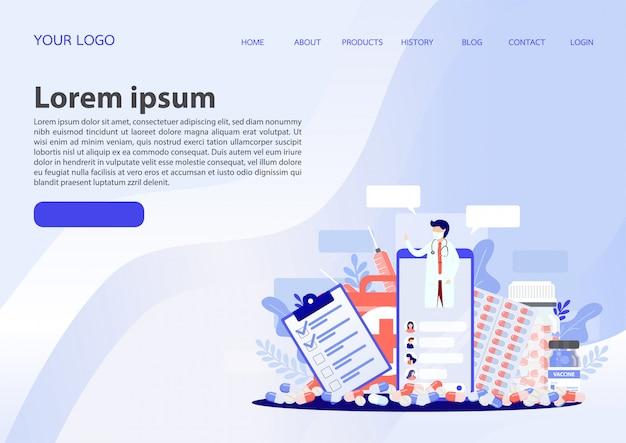 Mobile medical service concept. vector illustration