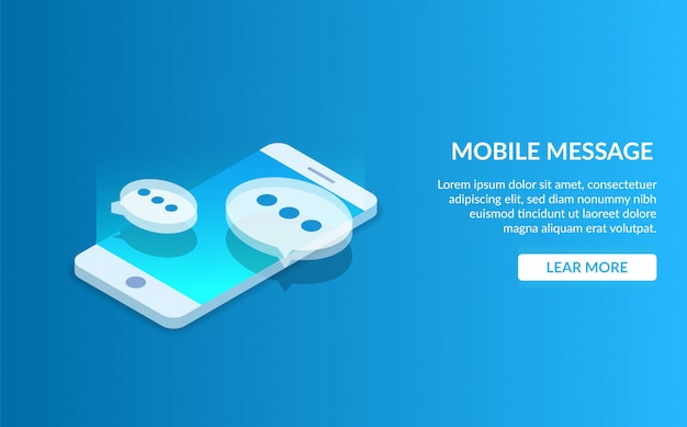 Mobile message landing page