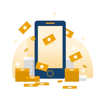 Mobile monetizing illustration
