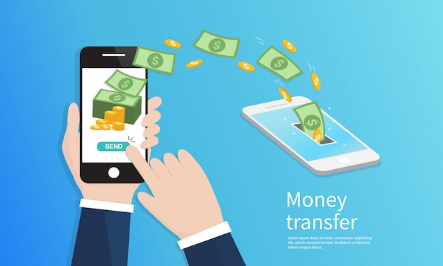 Mobile money transfer.