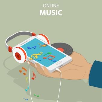 モバイル音楽等尺性フラット概念図。