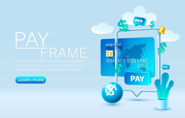 Mobile pay service financial payment smartphone mobile screen technology mobile display vector