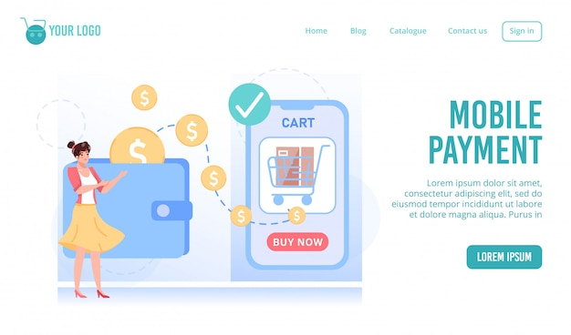 Mobile payment technology for online shopping
