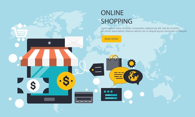 Mobile payments and shopping banner