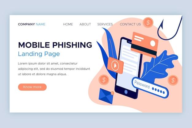 Mobile phishing landing page